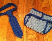 Crochet Diaper Cover and Tie
