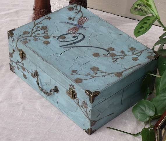 Chic Blue Box Keepsake Box Shabby Chic