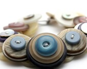 Upcycled 'Sand Runner' button bracelet by Shufflewing