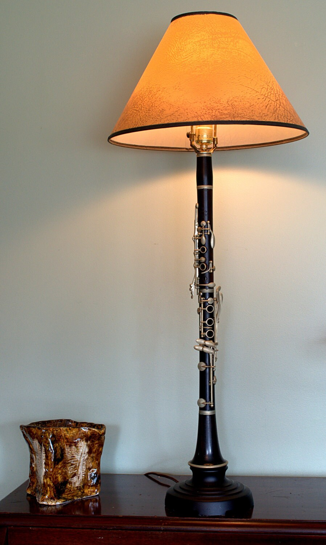 Wood Clarinet Lamp