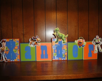 TOY STORY Disney Custom Name Kids/Baby Room Wood Blocks