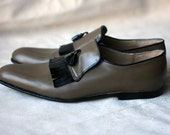 Olive Loafers - Handmade Leather Shoes