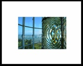 "RESERVED for J. ""VIEW from the LIGHT"" Lighthouse Glass Lens Ocean, signed, matted, original photograph"