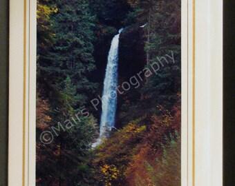 Oregon Waterfall, Silver Falls, Birthday, All Occasion, Blank Greeting Card, Photo Card