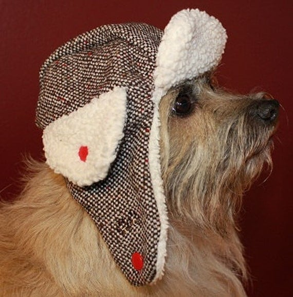 The Trapper Hat Cold Weather Hat For Dogs Featuring Rb