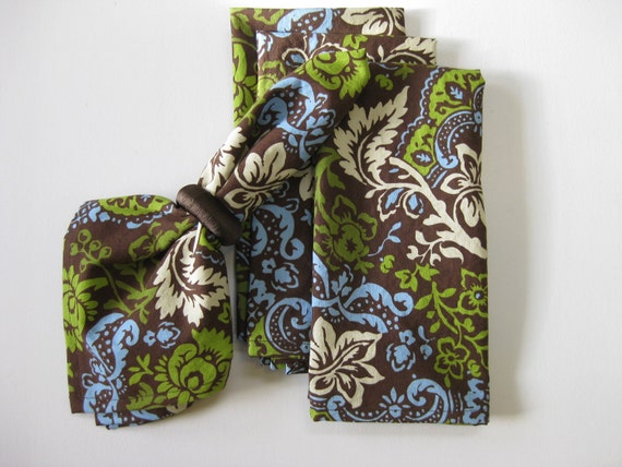 Flowery Cloth Dinner Napkins