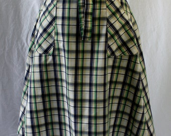 Plaid Wrap Skirt, Salem, vintage 1970s, size 6 (x-small to small)