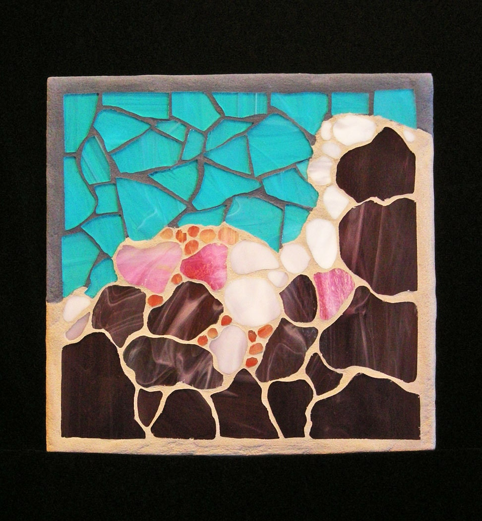 Stained Glass Mosaic Wall Art: Abstract Storm Clouds