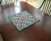 Miniature Doll Quilt recently made from authentic antique fabric *AnnMade*