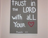 Bible Verse Painted Canvas