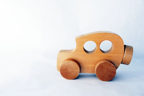 Vintage Wood Toy Car, Children, Eco Friendly, Gift, Hand Made, Christmas, Gift, Child, Kid