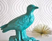 RESERVED 4 JULIE Seagull Statue in teal: Sigfried the Seagull