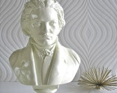 RESERVED 4 JPOPPAW:Beethoven Bust Statue in soft turquoise
