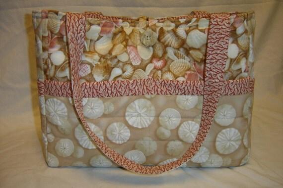 Sand Dollar, Sea Shell, Beach Bag/Diaper Bag