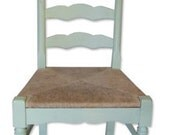 Pastel Green Shabby Chic Wood Chair