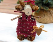 Margo the Red Pinecone Moose