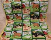 John Deere Crocheted Baby Blanket