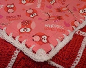 Owl Be Yours Crochet Afghan w/FREE matching hat