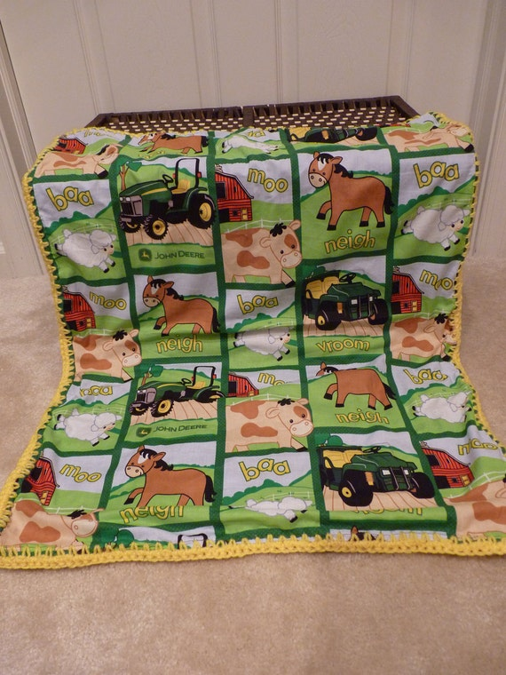 John Deere Crocheted Baby Blanket