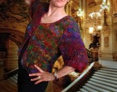Hand knit silk jacket - MARIELLA - Reserved for Amber