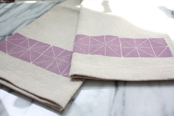 Geometric Dish Towel, Lavender