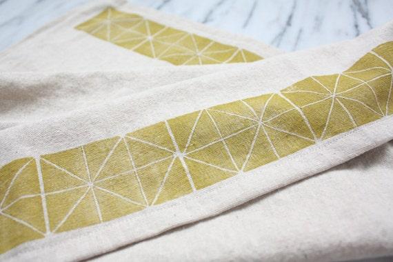 Geometric Dish Towel, Ochre
