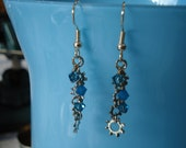 Steampunk Crystals and Washers Earrings