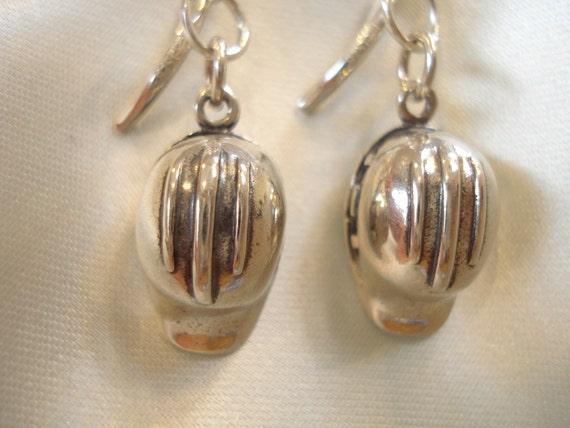 Hard Hat Sterling Silver Earrings