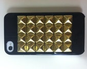 Studded iPhone Case YOU CHOOSE Custom Black White Gold Silver