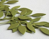 10 die cuts leaves old olive or your color choice