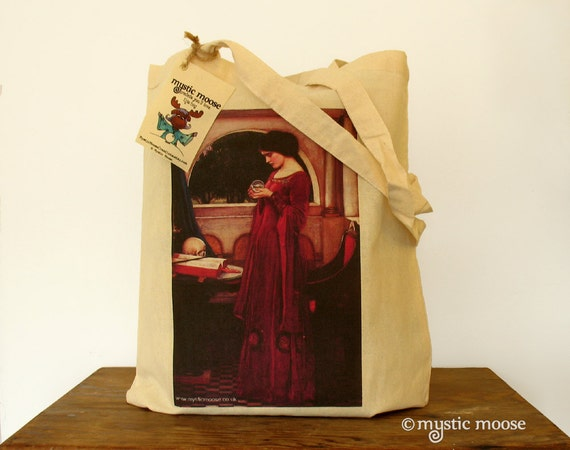 John William Waterhouse Crystal Ball Painting Eco Cotton Tote Bag