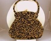 NETTIE ROSENSTEIN Designer Handbag Beaded Tiger Vintage