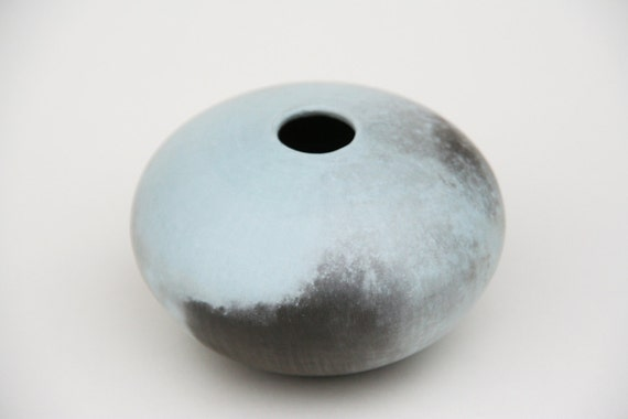 Blue Ceramic Pot - Sawdust Fired