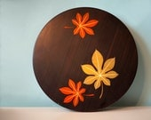 Vintage Serving Tray, Appetizer Tray, or Party Tray With Japanese Maple Leaves on Lid