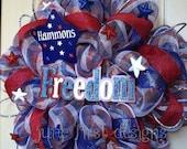 Personalized Patriotic Wreath