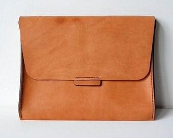 Caramel iPad Case - Handstitched leather laptop case / sleeve
