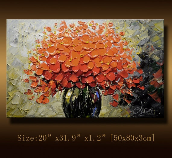 Original Abstract Painting, Modern Textured Painting,  Palette Knife, Home Decor, Painting Oil on Canvas  by Chen 037