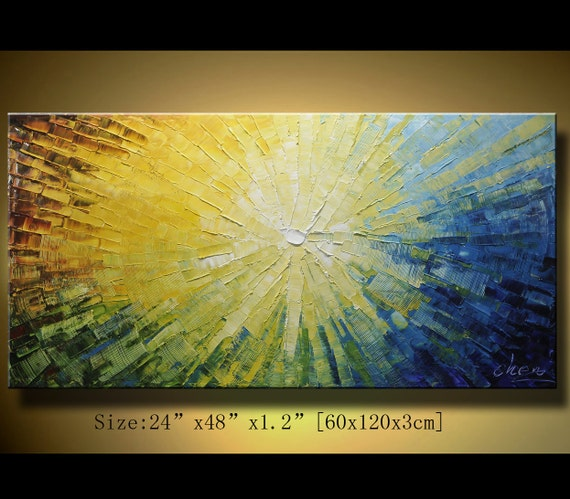 Original Abstract Painting, Modern Textured Painting,  Palette Knife, Home Decor, Painting Oil on Canvas  by Chen 0126