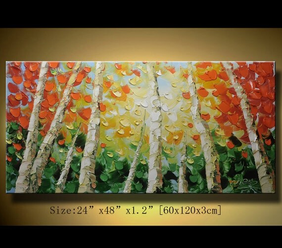 Original Abstract Painting, Modern Textured Painting,  Palette Knife, Home Decor, Painting Oil on Canvas  by Chen 0132