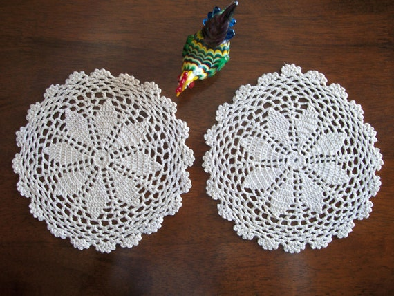 Crocheted Doilies - Set of 2 - FREE SHIPPING