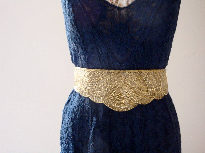 gold beaded wide high waist corset belt sequin boho glam