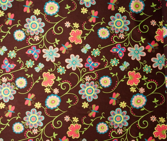 SALE Spring Creative Products Secret Garden Floral Dots - 1 yard (SCP10113b)