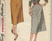 "3983 Simplicity Vintage Pattern, 1952, Waist 38"" Hip 37"""