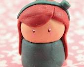 mini teal chibi girl (charm)