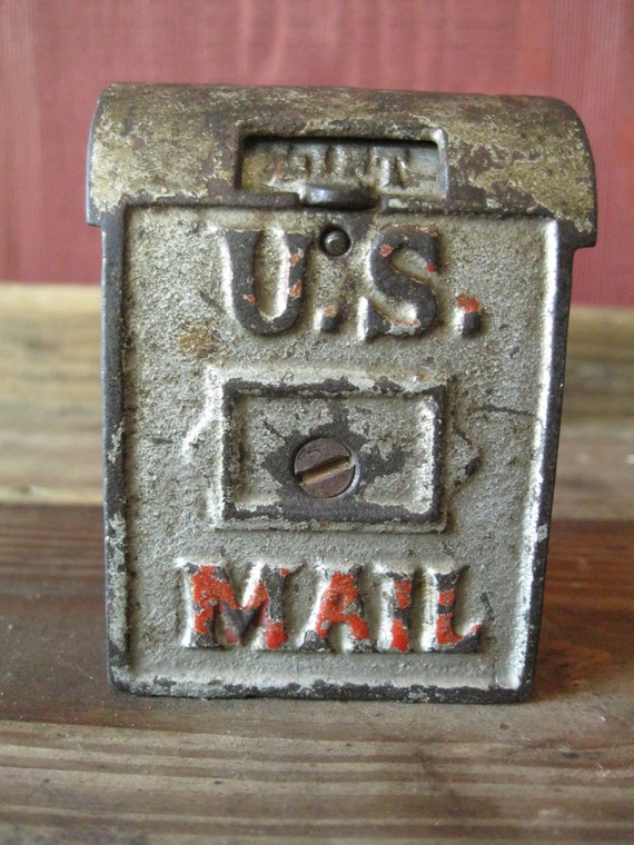 Sale antique bank us mailbox kenton mechanical trap art deco - Deco trap ...