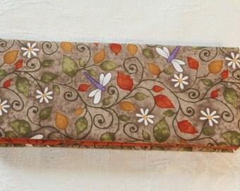 Magic Wallet - Billfold Dragonflies & Flowers