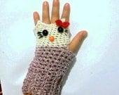 Crochet pattern HELLO KITTY Gloves (Pdf file).