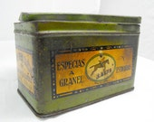 Old spices tin box made in spain. More than 100 years old. Amazing