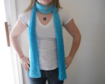 Blue Tube Long Scarf