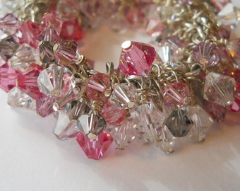 Bracelet Swarovski Crystal With Sterling Silver Bangle Bracelet
